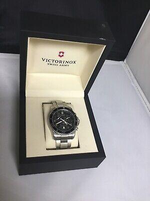Victorinox Swiss Army Maverick GS Men's SS Black Swiss Chronograph Watch 241432