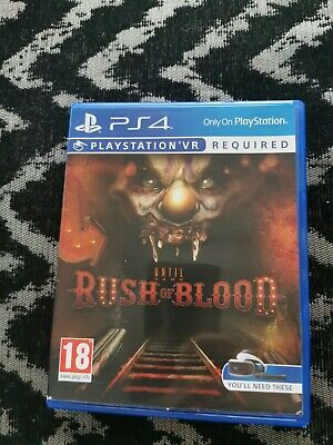 Until Dawn Rush of Blood PS4 Playstation 4 (VR Required) **FREE UK POSTAGE**