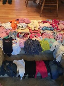 A lot of girls clothing