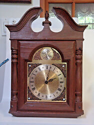 Tempus Fugit grandfather battery operated clock TOP working AS IS PARTS Restore