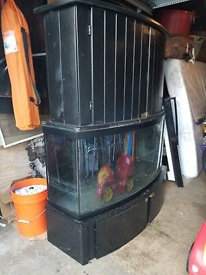 55 gallon fish tank with stand, No leaks, used