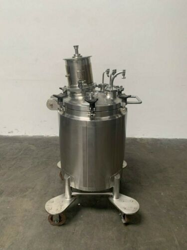 LEE 100 Liter Stainless Steel Jacketed Reactor w/ Agitator 100PSI