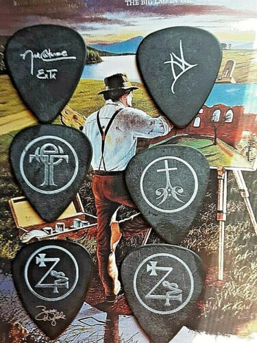 BLACK LABEL SOCIETY (6) guitar picks from 2011 Order Of the Black Tour