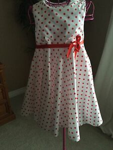 Girl's Polka Dot Dress Size 6/7