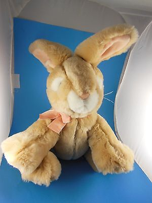 """Russ Berrie 11"""" Apricot Rabbit Plush 5"""" long Ears Soft and quality Vintage Russ"""