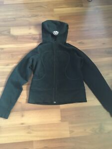 Black Lululemon sweater and pink Bench hoodie