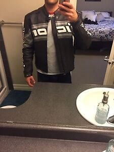 Icon Daytona Leather Motorcycle Jacket. Medium