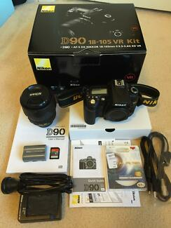 Excellent condition Nikon D90 with 18-105mm kit lens Eastwood Ryde Area Preview