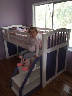 Girls single loft style bed Berkeley Vale Wyong Area Preview
