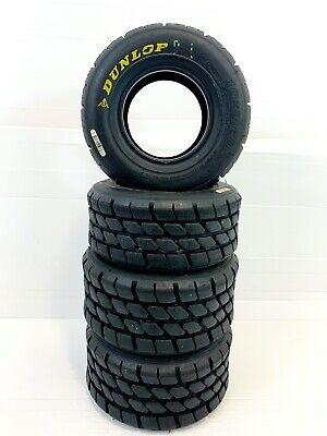 USED Dunlop KT3 - MSA Honda Cadet Kart Full Wets Tyres 20 Laps Old  - D Code .