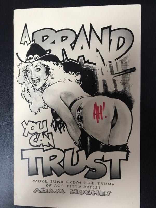 ADAM HUGHES A BRAND YOU CAN TRUST 2004 SIGNED WONDER WOMAN BATMAN TOMB RAIDER