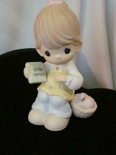 """Precious Moments """"YOU'RE DUE FOR A LIFETIME OF HAPPINESS"""" Figure #114015"""