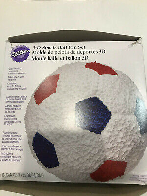 Wilton 3D Sports Ball Cake Pan New in Open Box. No bases.