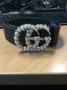 66e953c2820 Pearl  Gold Gucci Belt     Free Express Post