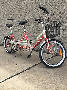 Velo tandem 1978 excellente condition couleur Candy Can 3 vitess