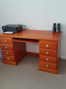 Solid Pine Office Desk Zillmere Brisbane North East Preview