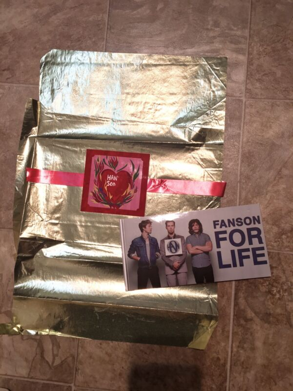 Hanson Sticker + Wrapping Paper From Candy Shout It Out Taylor Isaac Zac