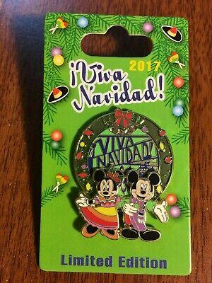 2017 Viva Navidad Pin MICKEY MINNIE Wreath Disney Holiday LE2000 DCA segunda mano  Embacar hacia Argentina