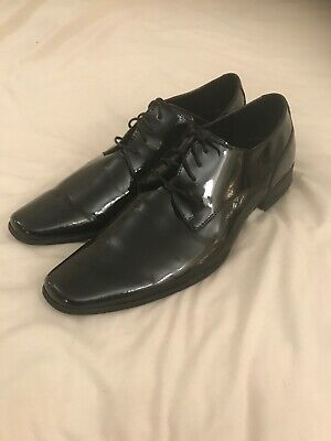 Calvin Klein Men's Leather Oxford Formal Front Lace Dress Shoes Size 15