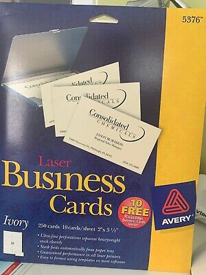 Newavery 5376 Laser Business Cards Ivory 250 Cards