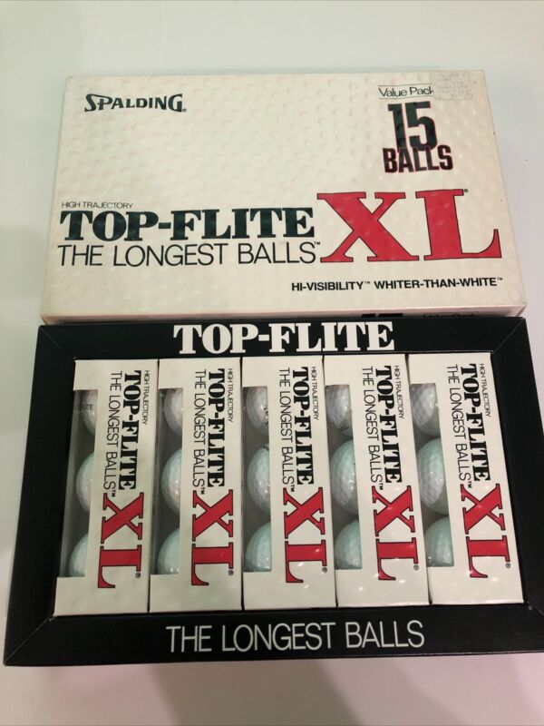 Vintage Spalding Top-flite XL 15 Ball Pack Extra Loft Extra Long Distance NOS