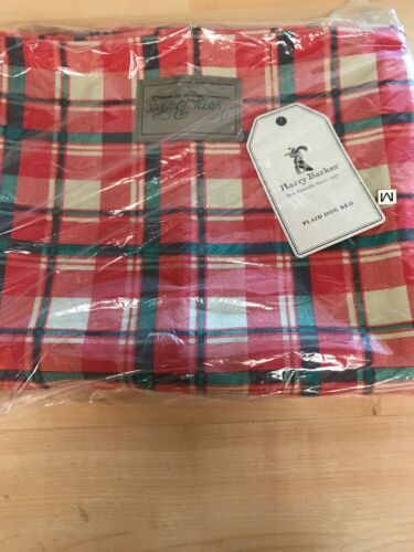 NWT HARRY BARKER PLAID Dog Bed Cover ONLY Plaid Envelope Bed