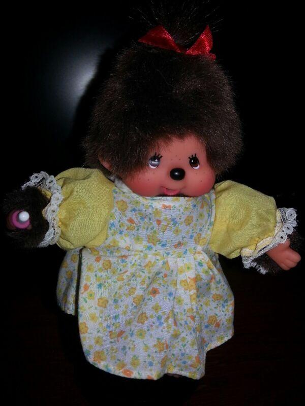Monchhichi,Monchichi, Munchichi 5 Inch ADORABLE Girl With Outfit