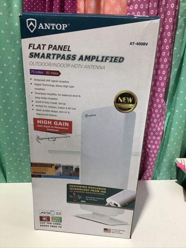 Antop AT-400BV Smartpass Amplified Indoor/Outdoor VHF/UHF HDTV Antenna