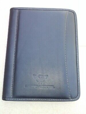Black Leather Leeds Padfolio Notebook Organizer Planner With Corvette Logo