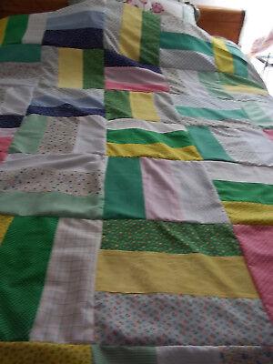 Scrappy Quilt Top 78 x 78