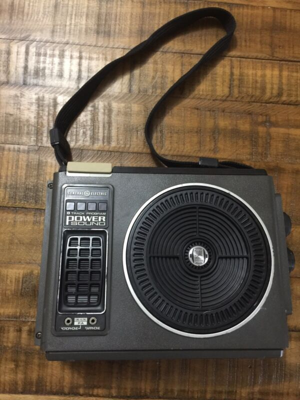 Vintage GE Power Sound Portable 8-Track Player Model 3-5503 Gray