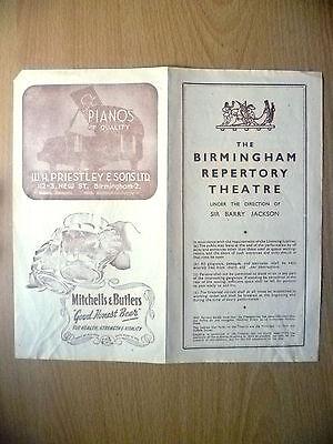 Birmingham Repertory Theatre 1947- THE GLEAM by Barry Jackson~W Chetham Strode