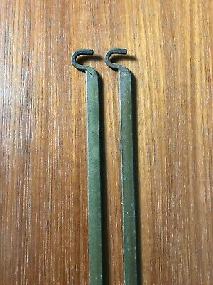 Pair vintage Staples Ladderax shelf supports modular shelving brackets rods bars