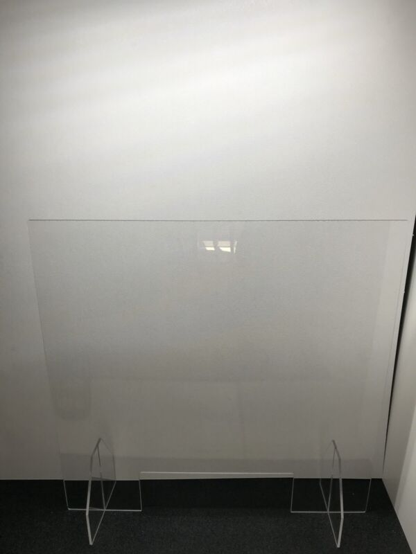 Sneeze Guard - Hand Made Acrylic Barrier for Counter, Office, Cashier, Retail