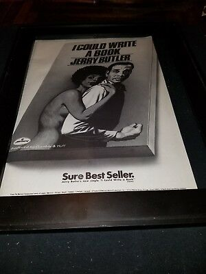 Jerry Butler I Could Write A Book Rare Original Promo Poster Ad Framed!