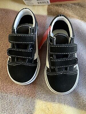 Baby Boys/Girls Vans Black Trainers Old Skool Vans New With Box Size UK 5