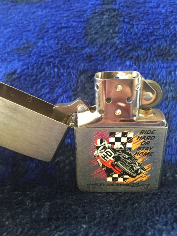 "ZIPPO Harley-Davidson ""Ride Hard or Stay Home"" Windproof Lighter"
