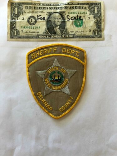 Belknap New Hampshire Police Patch pre-sewn in great shape