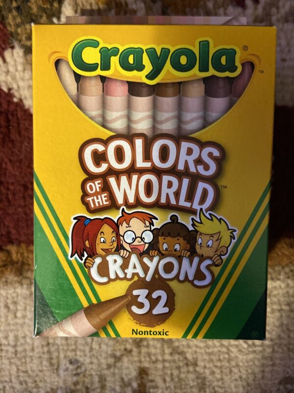 Crayola Colors of the World Crayons 32pc Skin/Hair/Eyes/Multicultural/Diversity