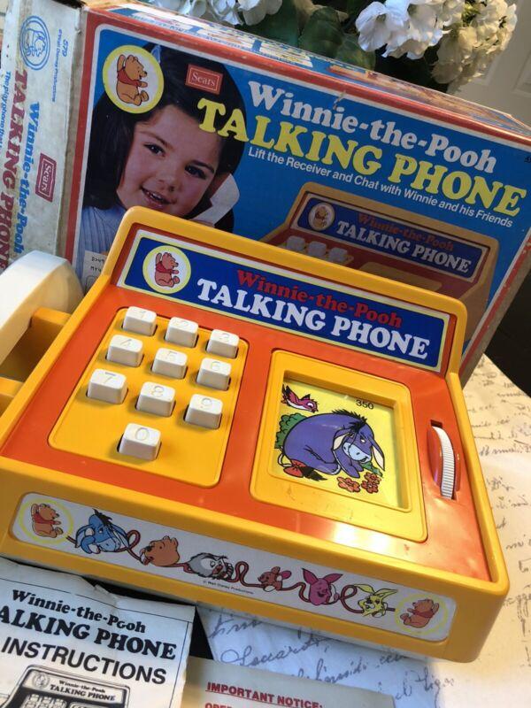 Vintage 1974 Hasbro Winnie-The-Pooh Talking Phone   In Original Box! Walt Disney
