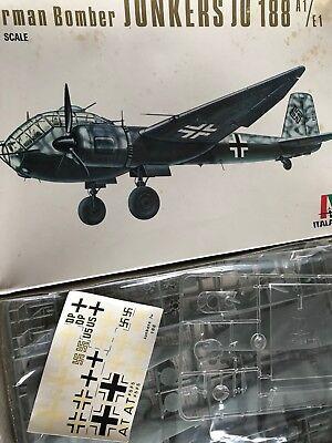Italeri Junkers JU188 A1-E1 German Fighter Bomber 1:72 Scale Plastic Model 117, used for sale  Canada
