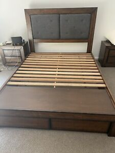 Queen bed and two bedsides