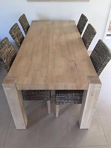 Java Natural Wood Dining Set Point Cook Wyndham Area Preview