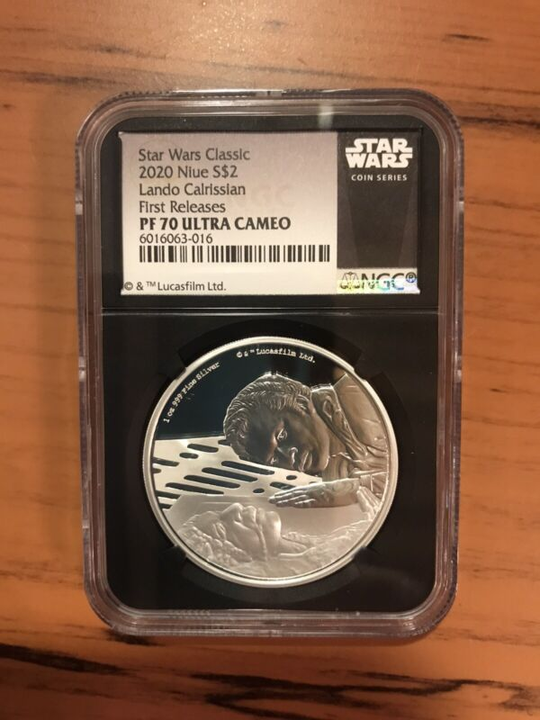 2020 Niue SILVER STAR WARS LANDO CALRISSIAN NGC PF70 First Releases