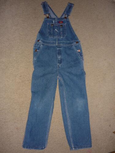 Dickies Unisex Blue Jean Denim Overalls, 100% Cotton, Pockets, Halloween Sz 5 6