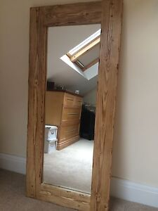 Rustic wooden mirror ebay beautiful quality handmade chunky rustic full length wooden mirror altavistaventures Images