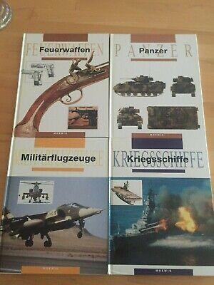 4 Bücher über Panzer-Waffen-Kriegsschiffe-Militärflugzeuge Moewig 1991 Sehr Gut