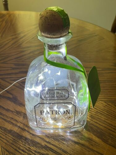Patron Silver Tequila bottle (750ml) LED Bar Decor