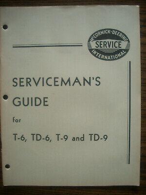 Ih Farmall International T6 Td6 T9 Td9 Crawler Service Manual