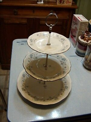 Blue Garland 3 TIER HOSTESS TRAY Johann Haviland BAVARIA  Perfect